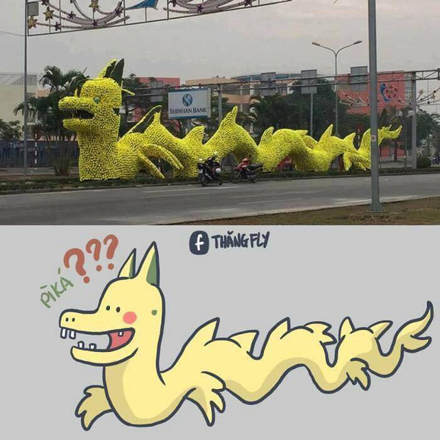 Con rồng vàng có hình thù kỳ lạ ở thành phố Hải Phòng khiến nhiều người khó hiểu - Ảnh 2.