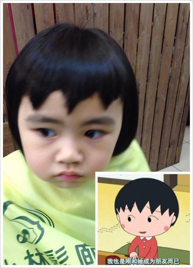 Bị mẹ ngăn cản, cô bé 5 tuổi vẫn kiên quyết cắt tóc răng cưa để giống thần tượng Maruko - Ảnh 6.