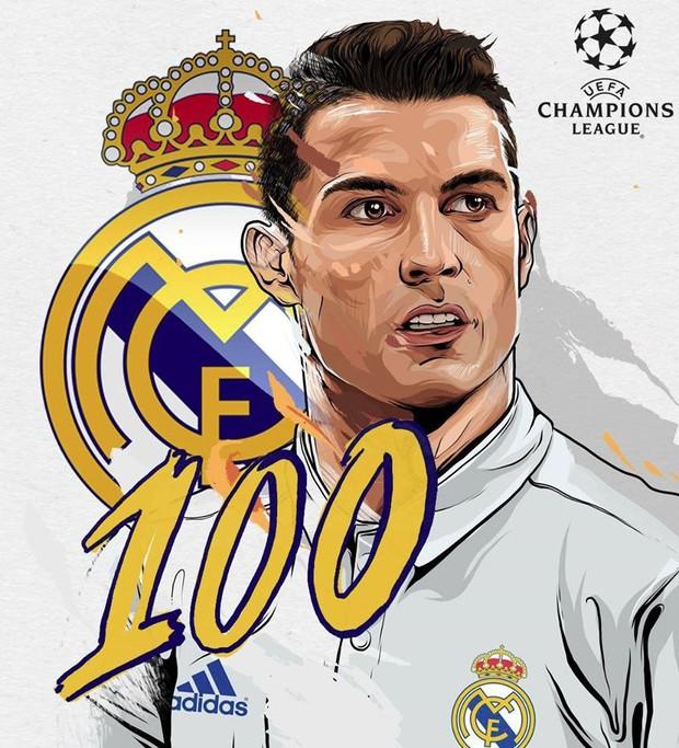 Ronaldo đi vào lịch sử Champions League - Ảnh 1.