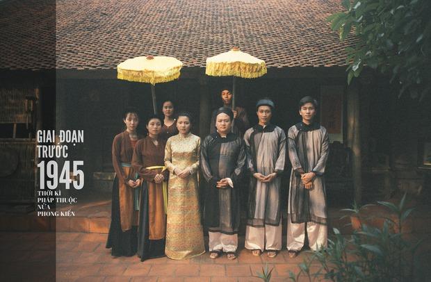 Độc nhất vô nhị: Chụp một lần, cặp đôi tái hiện được tất cả các kiểu lễ cưới Việt Nam trong 100 năm qua! - Ảnh 1.