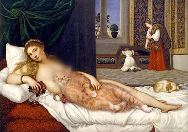 Chùm ảnh chế mèo béo hóa thân thành nàng thơ trong các bức họa nổi tiếng - Ảnh 15.