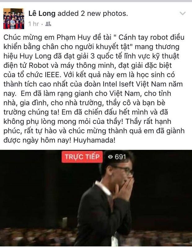 Cậu học sinh nghèo Quảng Trị chế robot từng bị từ chối visa đạt giải quốc tế tại Mỹ - Ảnh 1.