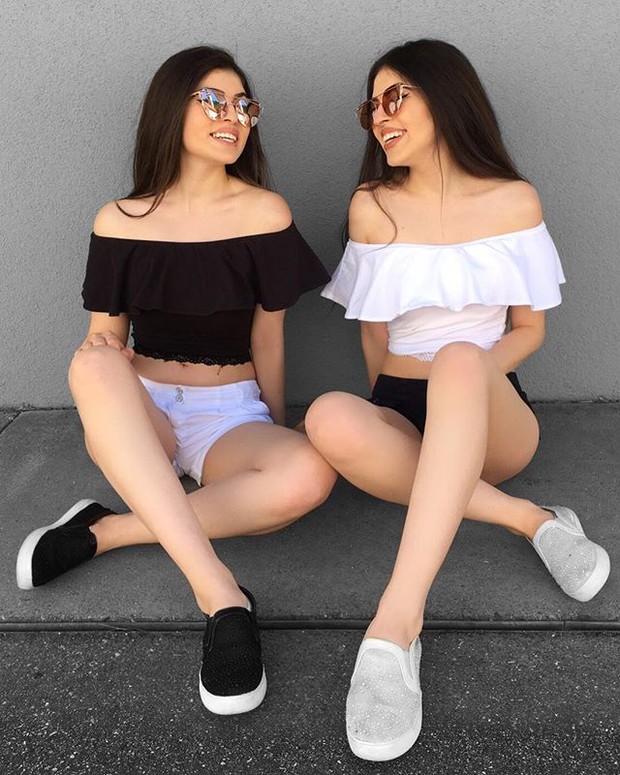 Cặp chị em sinh đôi người đẹp dáng xinh, thu hút sự chú ý của cộng đồng mạng Việt Nam - Ảnh 2.