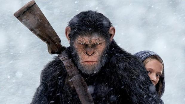"""""""War for the Planet of the Apes"""" khiêu chiến với Người Nhện tại phòng vé - Ảnh 2."""