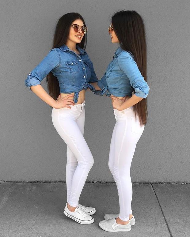 Cặp chị em sinh đôi người đẹp dáng xinh, thu hút sự chú ý của cộng đồng mạng Việt Nam - Ảnh 15.