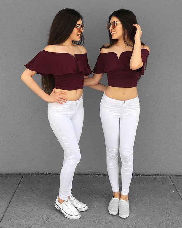 Cặp chị em sinh đôi người đẹp dáng xinh, thu hút sự chú ý của cộng đồng mạng Việt Nam - Ảnh 17.