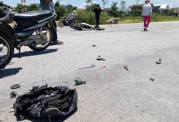 Huế: Ô tô tông xe máy chở gas, nam thanh niên chết thảm - Ảnh 1.