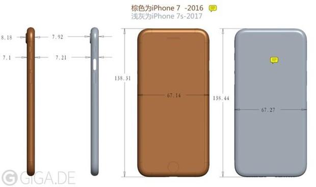 iPhone 7s sẽ lớn hơn iPhone 7 về mọi mặt, ngoại trừ điểm đặc biệt này - Ảnh 1.