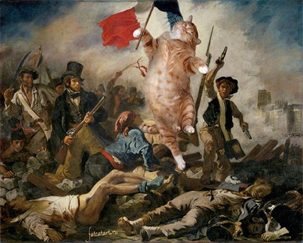 Chùm ảnh chế mèo béo hóa thân thành nàng thơ trong các bức họa nổi tiếng - Ảnh 7.