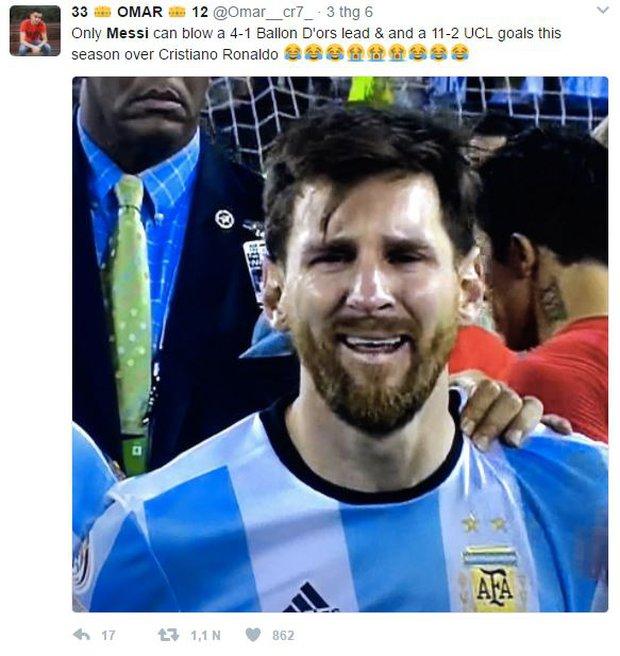 Khổ thân Messi bị biến thành trò cười trong ngày Ronaldo đi vào lịch sử - Ảnh 4.