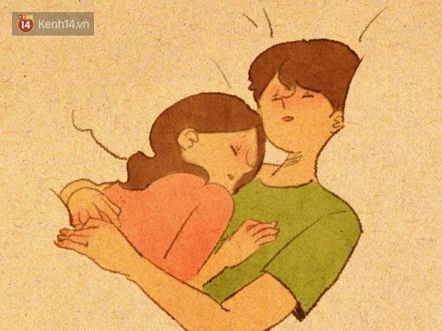 Cảm giác bình yên và ấm áp nhất: Được rúc vào vòng tay bạn trai ngủ quên cả thế giới! - Ảnh 1.