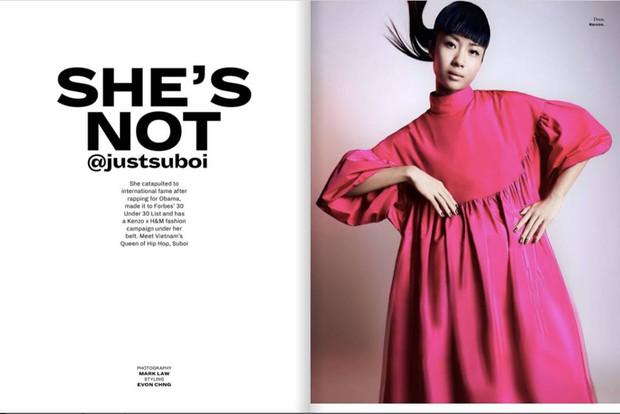 Hết làm KOLS cho H&M, Suboi lại lên trang bìa tạp chí danh tiếng của Singapore - Ảnh 3.