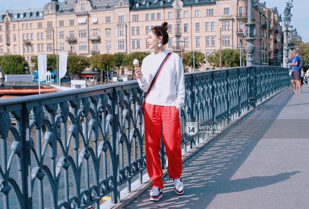 Chi Pu & Hoàng Ku đã đặt chân đến Thụy Điển, khoe street style siêu xinh trước khi thăm thú H&M - Ảnh 16.