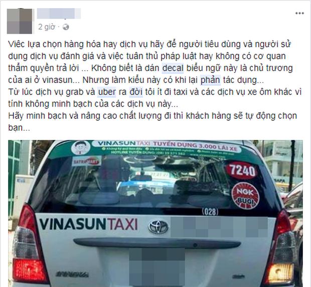 Hàng loạt ý kiến bức xúc việc taxi Vinasun dán decal phản đối Uber và Grab: Thay vì cạnh tranh không lành mạnh, hãy nâng cao chất lượng dịch vụ - Ảnh 4.