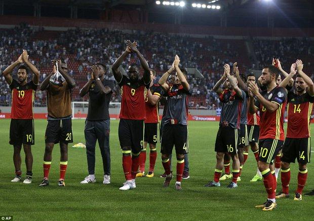 Bom tấn của Man Utd ghi bàn, Bỉ là đội bóng châu Âu đầu tiên dự World Cup 2018 - Ảnh 12.