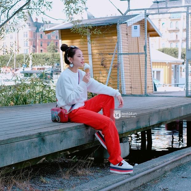 Chi Pu & Hoàng Ku đã đặt chân đến Thụy Điển, khoe street style siêu xinh trước khi thăm thú H&M - Ảnh 17.