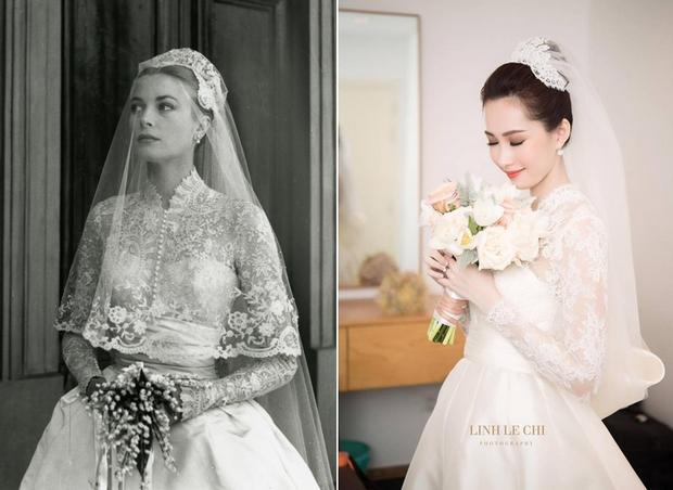 Bạn có nhận ra váy cưới của Hoa hậu Thu Thảo giống váy cưới của Công nương Grace Kelly đến bất ngờ? - Ảnh 5.