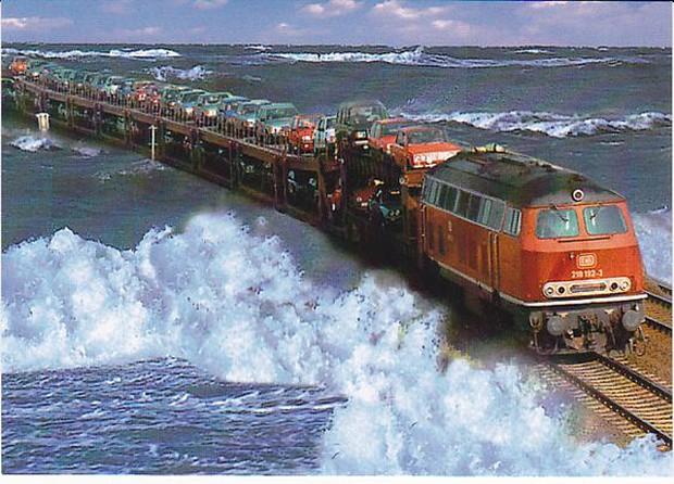 Cận cảnh tàu hỏa chạy xuyên biển - công trình vĩ đại của người Đức giống hệt như One Piece - Ảnh 6.