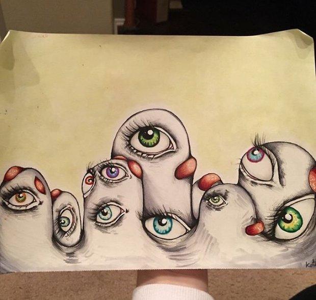 Bộ tranh thuật lại ảo giác kinh hoàng mà cô gái mắc bệnh tâm thần phân liệt nhìn thấy - Ảnh 15.