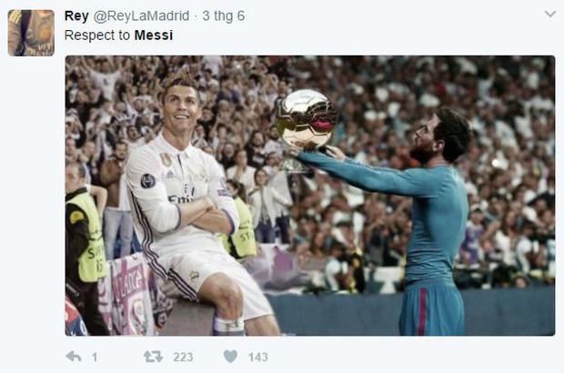Khổ thân Messi bị biến thành trò cười trong ngày Ronaldo đi vào lịch sử - Ảnh 2.
