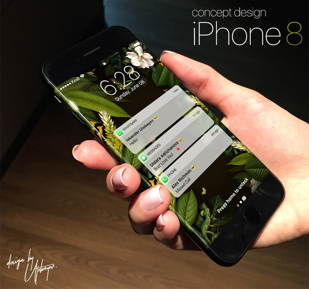 Cận cảnh iPhone 8 đẹp rụng rời với màn hình cong tinh tế - Ảnh 1.
