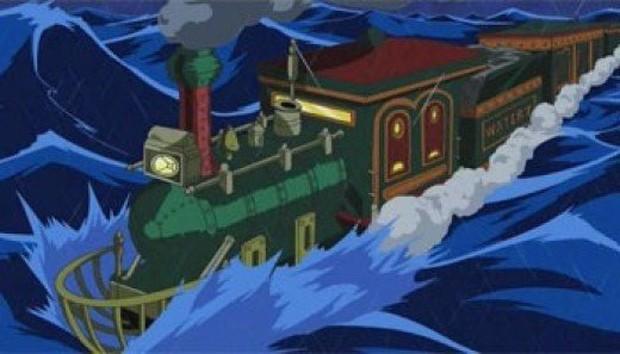 Cận cảnh tàu hỏa chạy xuyên biển - công trình vĩ đại của người Đức giống hệt như One Piece - Ảnh 1.