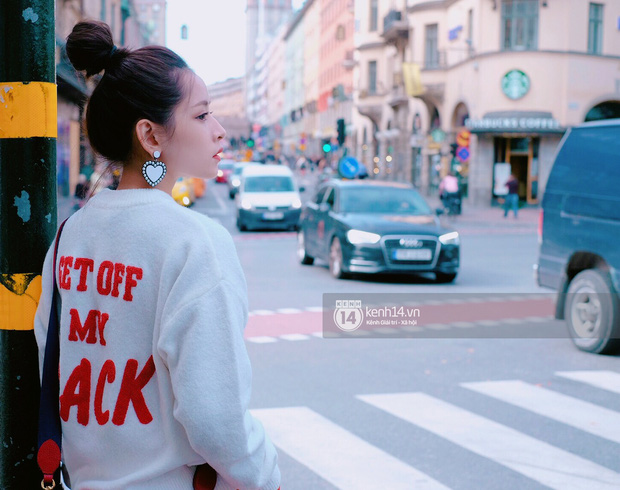 Chi Pu & Hoàng Ku đã đặt chân đến Thụy Điển, khoe street style siêu xinh trước khi thăm thú H&M - Ảnh 15.