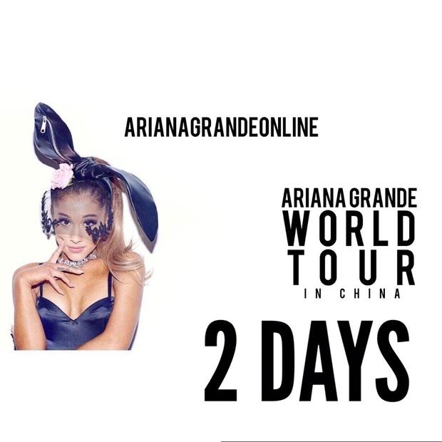 Huỷ show giờ chót ở Việt Nam, Ariana Grande vẫn sẽ tiếp tục biểu diễn 3 show tại Trung Quốc - Ảnh 1.