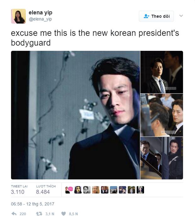 Vệ sĩ đẹp trai như tài tử của tân Tổng thống Hàn Quốc khiến dân mạng đứng ngồi không yên - Ảnh 2.