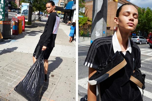 adidas Originals x Alexander Wang lăng xê mốt nhặt lá đá ống bơ, tay cầm túi rác ra đường - Ảnh 12.