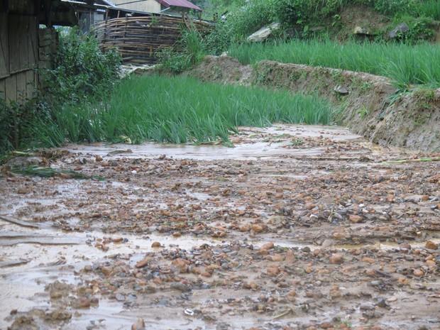 Chùm ảnh: Hoàn lưu bão số 2 càn quét nặng nề khu du lịch Cát Cát ở Sa Pa - Ảnh 10.