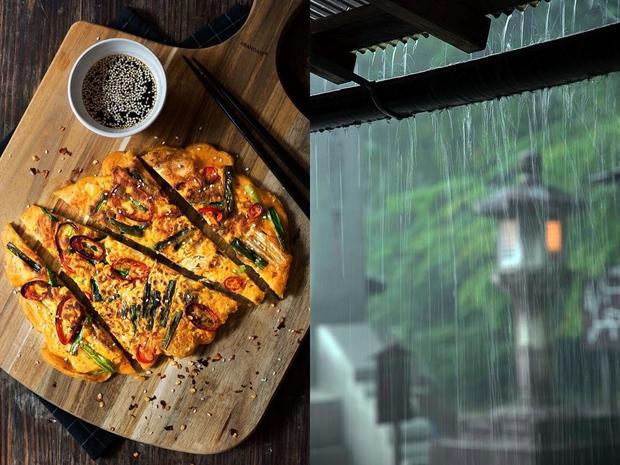 Ở Hàn Quốc, người ta còn có cả một món ăn dành riêng cho trời mưa