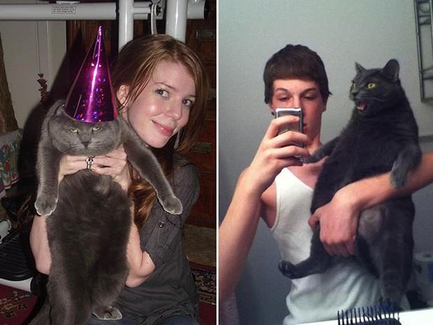 16 chú mèo ghét cay ghét đắng việc selfie cùng chủ nhân - Ảnh 9.