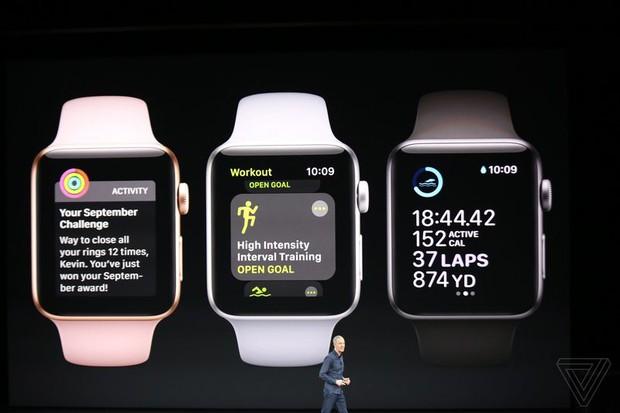 Apple vừa giới thiệu Apple Watch Series 3: thiết kế không đổi, có thể cắm SIM và chứa được hơn 40 triệu bài hát - Ảnh 2.