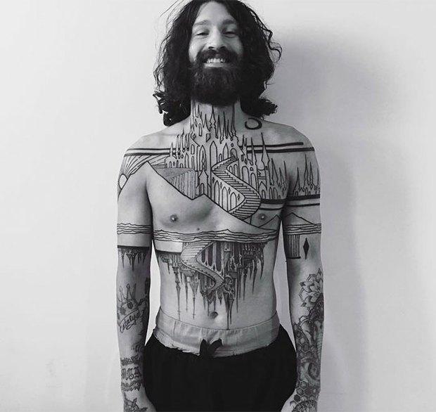 Gợi ý 17 mẫu hình xăm kiến trúc nghệ thuật dành cho những người yêu thích sưu tập tranh ảnh trên cơ thể - Ảnh 1.