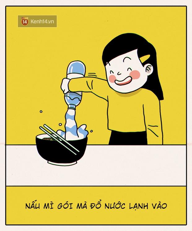 Đây chính xác là những gì sẽ diễn ra khi con gái không biết nấu ăn vào bếp - Ảnh 5.