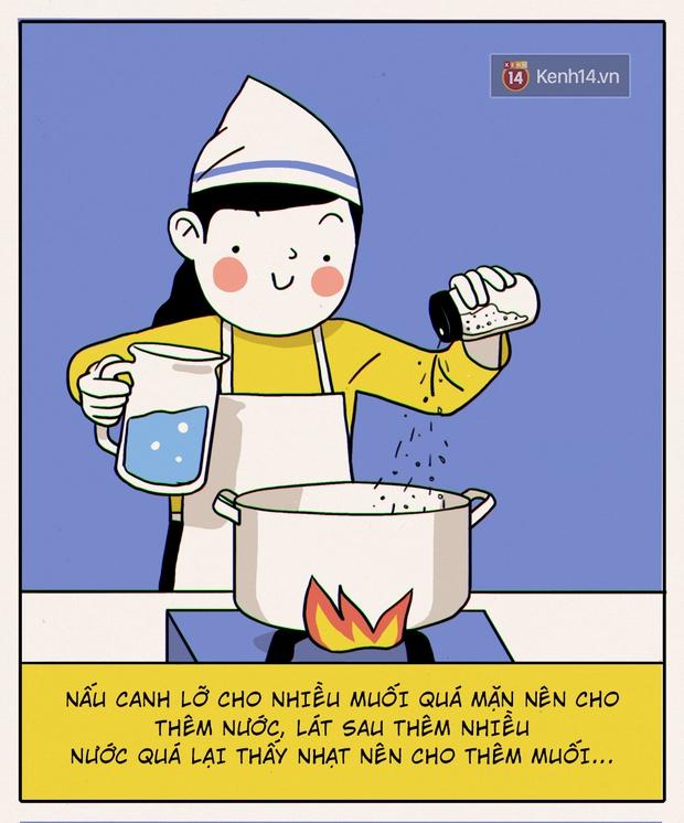 Đây chính xác là những gì sẽ diễn ra khi con gái không biết nấu ăn vào bếp - Ảnh 12.