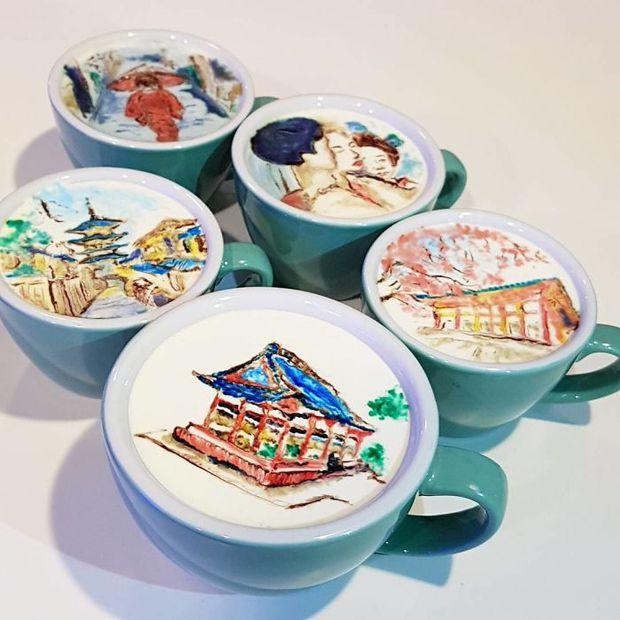 15 bức tranh tuyệt đẹp được vẽ trên tách cà phê - Ảnh 22.