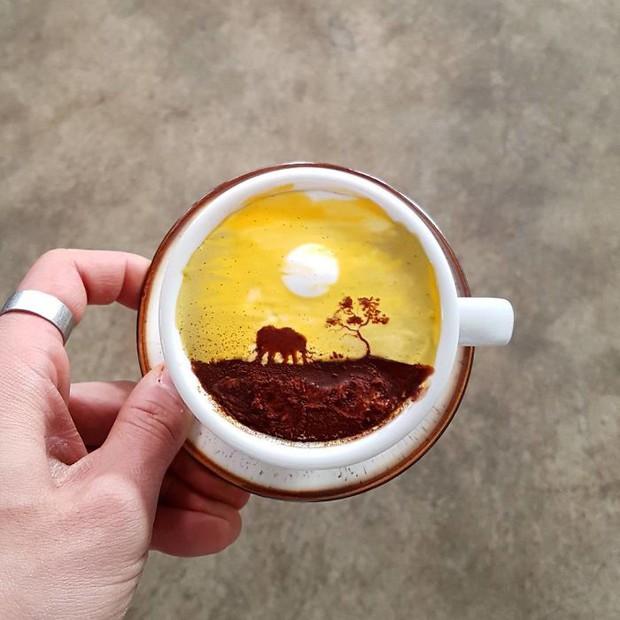 15 bức tranh tuyệt đẹp được vẽ trên tách cà phê - Ảnh 10.