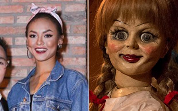 Không hiểu Mai Ngô trang điểm kiểu gì mà càng nhìn càng giống Annabelle - Ảnh 3.