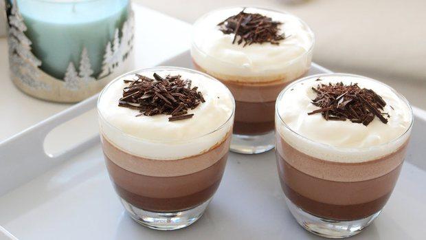 Tín đồ socola thì không thể bỏ qua công thức làm pudding socola 3 tầng ngon tuyệt cú mèo - Ảnh 11.