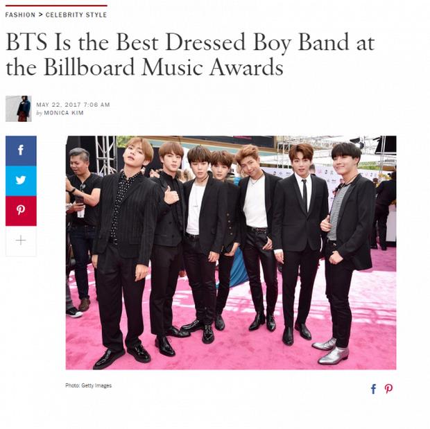 BTS bỗng dưng được Vogue Mỹ khen là nhóm nhạc mặc đẹp nhất Billboard 2017 - Ảnh 1.