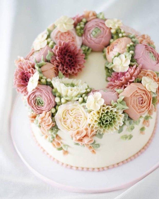 15 chiếc bánh kem hoa cỏ mùa xuân đạt tới đỉnh cao của nghệ thuật nấu nướng - Ảnh 27.
