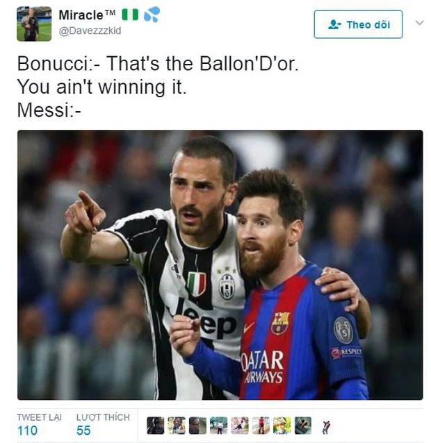 Khổ thân Messi bị biến thành trò cười trong ngày Ronaldo đi vào lịch sử - Ảnh 1.