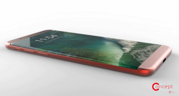 Cận cảnh vẻ đẹp mê mẩn của chiếc iPhone 8 Edge màu đỏ - Ảnh 1.
