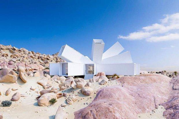 Kiến trúc sư xây nhà tuyệt đẹp giữa sa mạc chỉ bằng container - Ảnh 6.