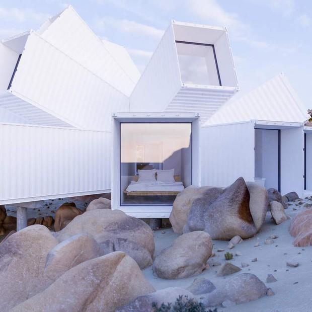 Kiến trúc sư xây nhà tuyệt đẹp giữa sa mạc chỉ bằng container - Ảnh 5.