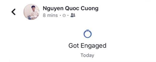 Cường Đô La và Đàm Thu Trang cùng để trạng thái đã đính hôn trên facebook, chính thức công khai hẹn hò? - Ảnh 1.