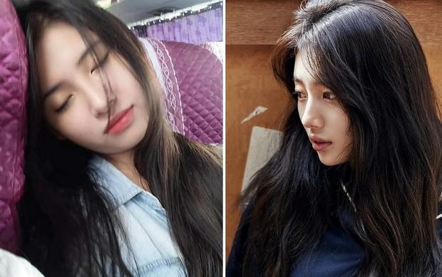 Cô bạn Hải Phòng bị chụp lén lúc đang ngủ gật được gọi là Suzy phiên bản Việt - Ảnh 1.