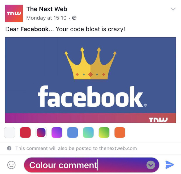 Facebook vừa cho phép người dùng viết comment với phông nền sặc sỡ, bạn đã có chưa? - Ảnh 1.